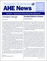 AHE News - Fall 2014 - Exploring the Person-House-Tree Assessment