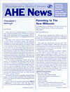 AHE News - April 2006 - Parenting in the New Millennia