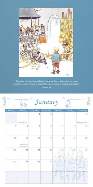 Elsa Beskow Calendar 2018 via waldorfbooks.com