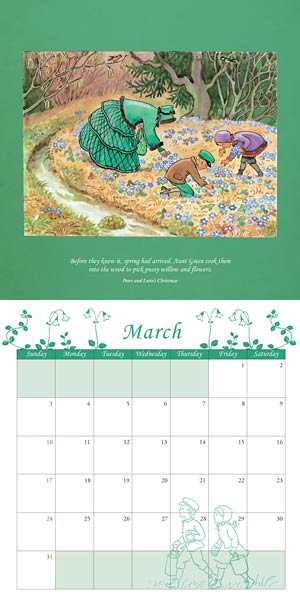 Elsa Beskow Calendar 2019 via waldorfbooks.com