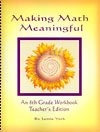 Making Math Meaningful: An 8th Grade Workbook, Teacher's Edition - Teacher's Edition with answer key